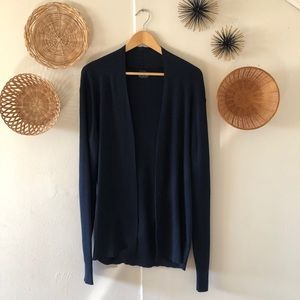 AllSaints Navy Blue Open Cardigan